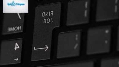 iş bul düğmesi olan klavye