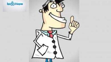 gülümseyen doktor ilüstrasyonu